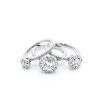 3 Halo rings set