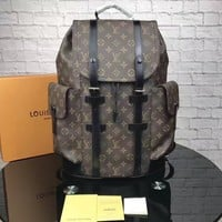 cc hcxx LV Backpack Brown Pattern