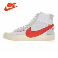 Original New Arrival Authentic NIKE BLAZER MID Men Skateboarding Shoes Sport Outdoor Sneakers Good Quality Breathable AA3832-006