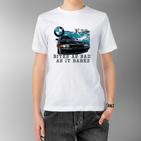 7 SERIES BMW E38 Bites As Bad as it barks White shirt t shirt designer tee short sleeve pure cotton