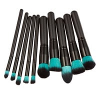 Professional 10Pcs Makeup Brush Set