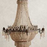 Tea Empire Chandelier by Anthropologie in Neutral Size: One Size Lighting