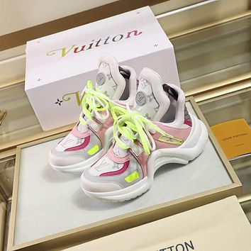 Louis Vuitton LV women's Men's Fashion Boots fashionable Casual leather Breathable Sneakers Running Shoes 0505