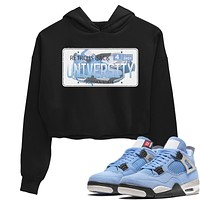 Jordan Plate Crop Hoodie - Air Jordan 4 University Blue