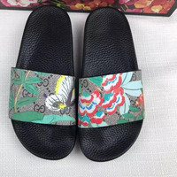 Gucci Casual Fashion Women Floral Butterfly Print Sandal Slipper Shoes