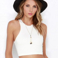 Sleeveless Cropped Tank