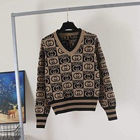 GUCCI GG Knit Pullover Sweater
