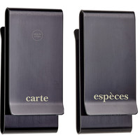 Double Sided French Money Clip, Black, Money Clips