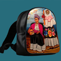Frida Kahlo Sugar Skull for Backpack / Custom Bag / School Bag / Children Bag / Custom School Bag *