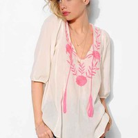 d.RA Embroidered Peasant Tunic- White S