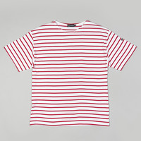 Armor-Lux 1527 Breton Stripe Tee White/Red