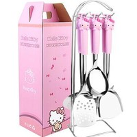 1 Set 6 In 1 Hello Kitty Stainless Steel+ABS Plastic Home Kitchen Cooking Tools Cooking Utensils Utensilios De Cozinha