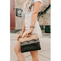 Holding Out For You Hand Strap Clutch (Python)