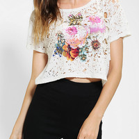 Urban Outfitters - Truly Madly Deeply Floral Shredded Tee