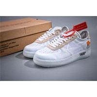 OW x Air Force 1 White Sneaker