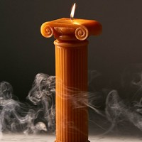 DOIY Design Hestia Orange Column Candle | Urban Outfitters
