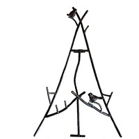 Rustic Easel, Iron Easel Stand, Metal Easel, Wedding Easel, Iron Bird Stand, Twig Picture Stand, Iron Branch, Metal Bird Stand, Graduation