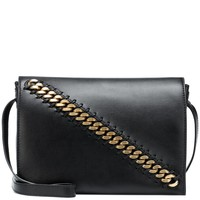 Faux-leather crossbody bag