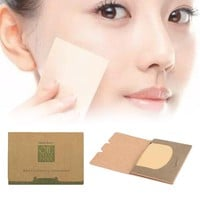 100Sheets Oil absorbing sheets Blotting paper Absorbent Beautiful Oil control