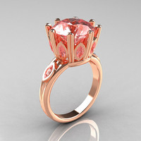 Classic 14K Rose Gold Marquise and 5.0 CT Round  by artmasters