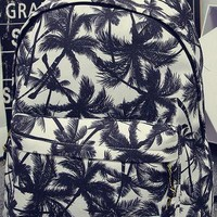 Palm Tree Canvas College School Sports Daypack Backpack