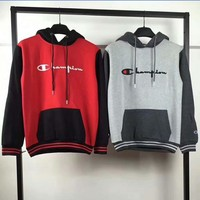 Champion embroidery splicing color Hoodies Hooded Top Sweatshirt H-A-GHSY-1