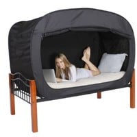 Privacy Pop Bed Tent (Queen) - BLACK