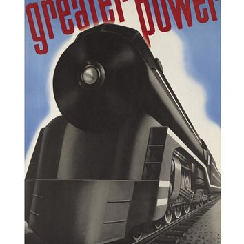 Greater Power Locomotive New Haven Railroad Print