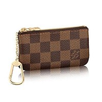 Perfect LV Louis Vuitton Key Pouch Clutch Bag Wristlet