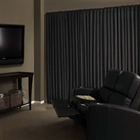 100% Darkness Blackout Drape - Black Curtains For Dorm Room Accessories Decor Sleeping Napping Better