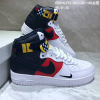 KUYOU N819 Nike Air Force AF1 Mid World Cup Leather Skate Shoes Red Blue White