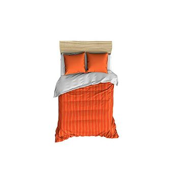 Red and Coral Stripes Small Comforter