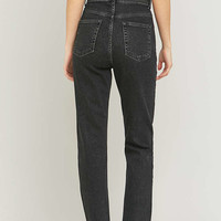 BDG High-Waisted Washed Black Girlfriend Jeans - Urban Outfitters