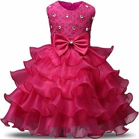 Baby Girls First Birthday Communion Dresses Kids Party Ball Gown Princess Bridesmaid Children Tutu Dress Girl
