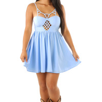 Going To California Dress: Baby Blue