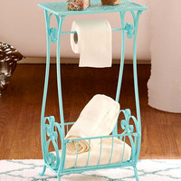Punched Metal Bathroom Stands