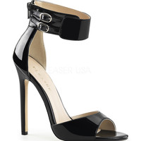Black Patent Sexy Sandal Pumps