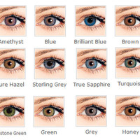 Soft Colorful Cosmetic contact lenses for eyes 12 colors in stock yearly use contacts eye color Freeshipping