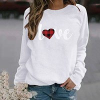 fhotwinter19 Women's hot style hot sale printing casual style long sleeve T-shirt