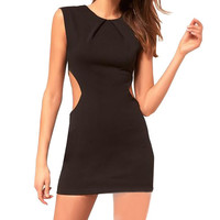Sleeveless Cut Out Bodycon Mini Dress