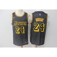 Lakers 24 Kobe black city Nike fan NBA Jersey