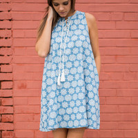 Blooming Expressions Dress, Chambray