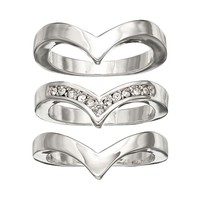 Apt. 9 Chevron Ring Set