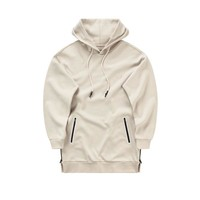 Side-Zip Tech Hoodie - Off White