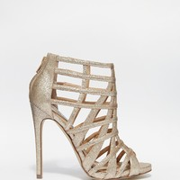 Steve Madden Marquee Gold Embellished Heeled Sandals