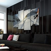 Snowboarding View Canvas Set