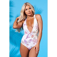 Riley One Piece Swimsuit (Purple Blossom)