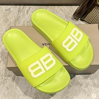 Balenciaga double B letter slippers shoes