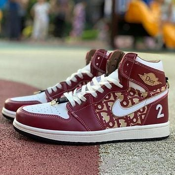 Nike AIR Jordan AJ1 joint men's and women's casual high-top all-match shoes