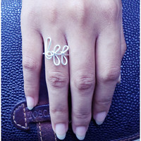 BFF Wire Ring / Wire word ring / Best friend forever / Initial ring /Copper Gold Silver Ring / Wire Wrap / Knuckle Ring / Above Knuckle Ring